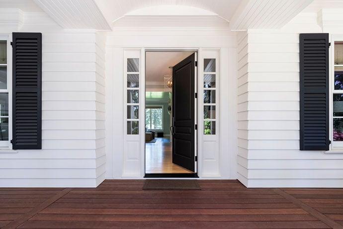 Front door - open inward
